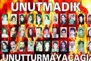Sivas Katliamını Unutmadık Unutturmayacağız