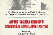 """""""SAĞLIKTA DÖNÜŞÜM!""""-Ahmet Yıldırım"""