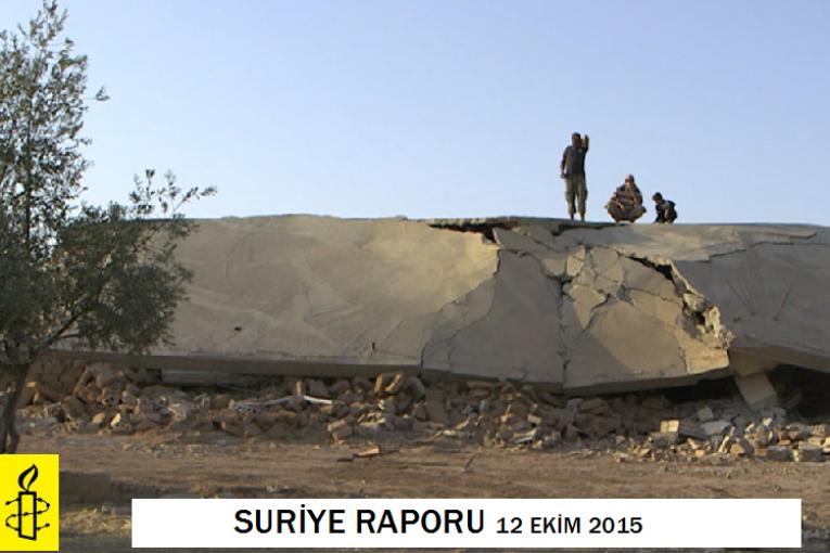Uluslararası Af Örgütü Suriye Raporu